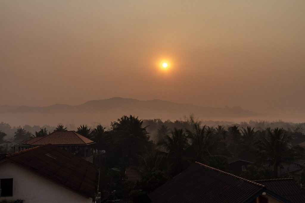 sunrise in Luang Namtha